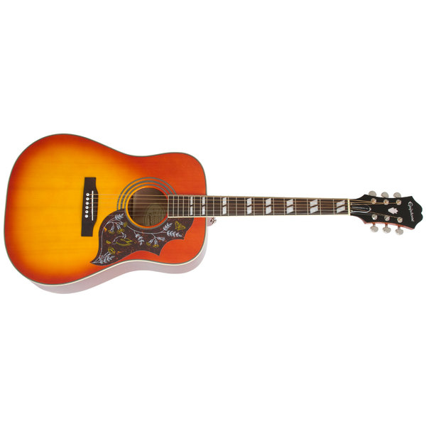 Гитара электроакустическая Epiphone Hummingbird Pro Acoustic/Electric W/Shadow Faded Cherry Burst dimarzio acoustic model for acoustic guitar and bass black