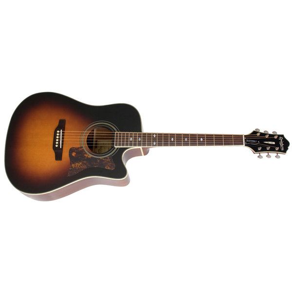 Гитара электроакустическая Epiphone MASTERBILT DR-500MCE Vintage Sunburst гитара электроакустическая sigma guitars tm 12e