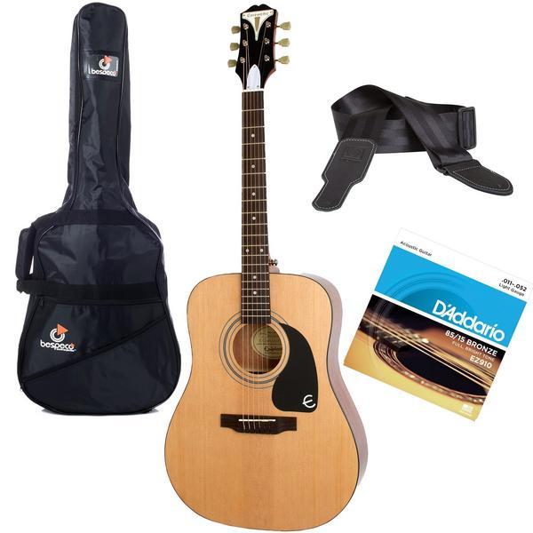 Акустическая гитара с аксессуарами Epiphone PRO-1 Acoustic Natural (Bundle 1)