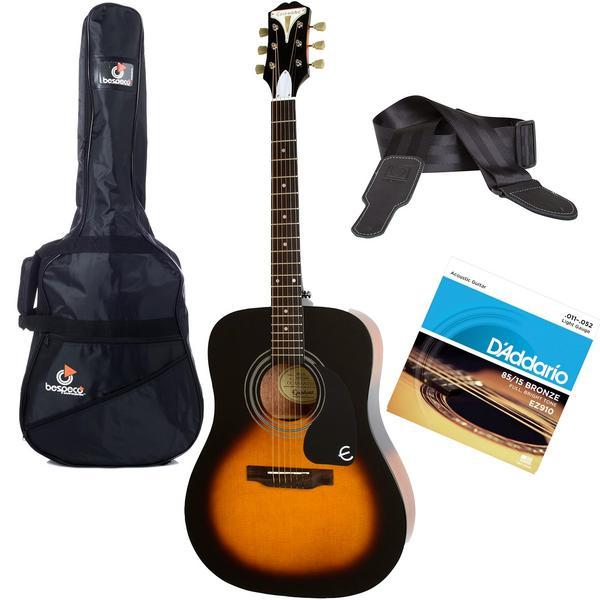 Акустическая гитара с аксессуарами Epiphone PRO-1 Acoustic Vintage Sunburst (Bundle 1)