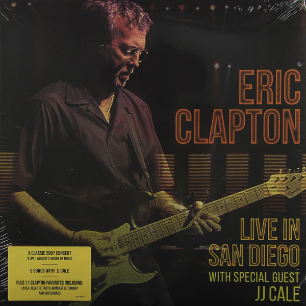 Eric Clapton Eric Clapton - Live In San Diego With Special Guest Jj Cale (3 LP) eric clapton eric clapton slowhand at 70 live at the royal albert hall 3 lp dvd