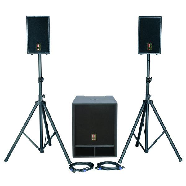 Комплект профессиональной акустики Eurosound FOCUS-1100A-v2 кабели