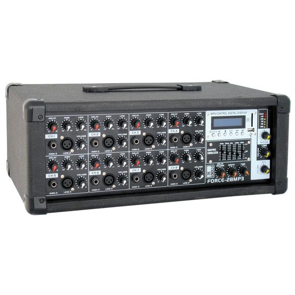 Микшерный пульт с усилением Eurosound Force-28MP3 аналоговый микшерный пульт eurosound compact 1204x