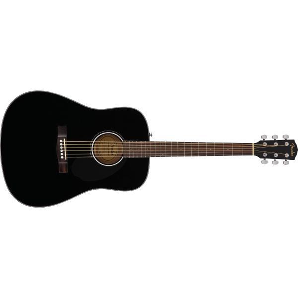 Акустическая гитара Fender CD-60S Black