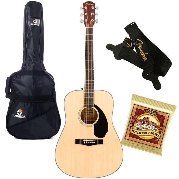 Акустическая гитара с аксессуарами Fender CD-60S Natural (Bundle 1)