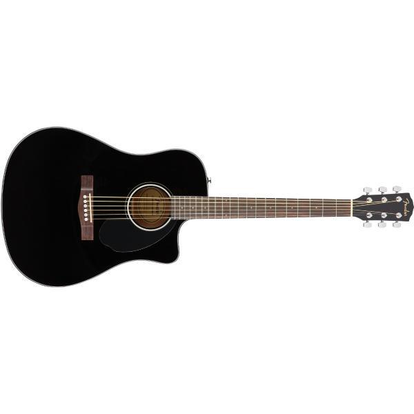 Гитара электроакустическая Fender CD-60SCE Dreadnought Black WN