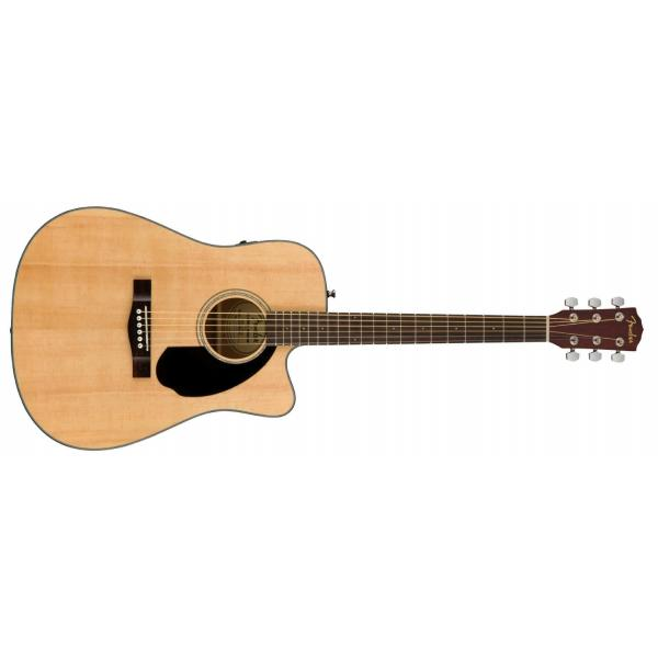 Гитара электроакустическая Fender CD-60SCE Dreadnought Natural WN fender pm 1 deluxe dreadnought sbst