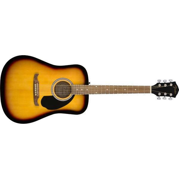 Акустическая гитара Fender FA-125 Dreadnought Sunburst fender pm 1 deluxe dreadnought sbst