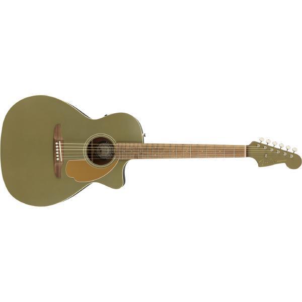 Гитара электроакустическая Fender Newporter Player Olive Satin