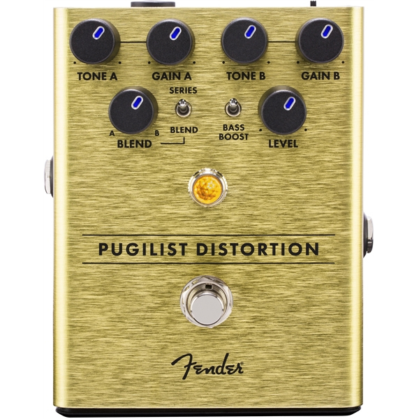 Педаль эффектов Fender Pugilist Distortion Pedal nux metal core distortion guitar pedal true bypass guitar effects pedal built in noise gate 2 band eq tone lock function