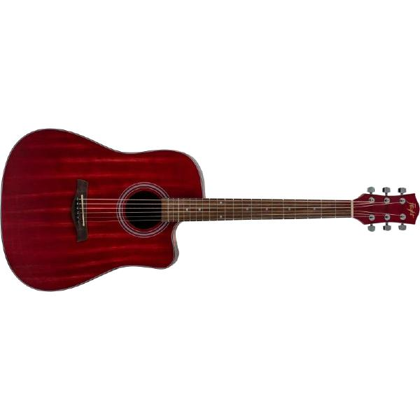 Акустическая гитара Flight D-155C MAH Red