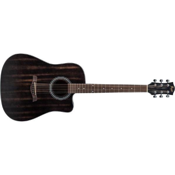 Акустическая гитара Flight D-155C MAH Black