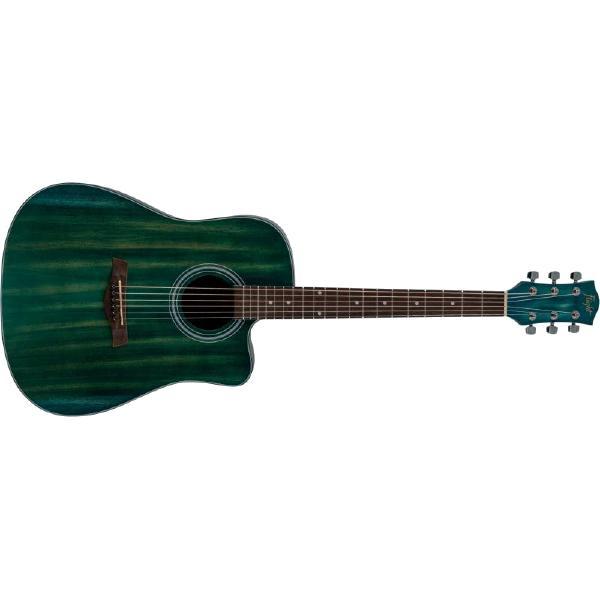 Акустическая гитара Flight D-155C MAH Blue