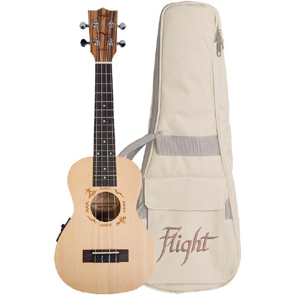 Укулеле Flight DUC525 EQ SP/ZEB Natural