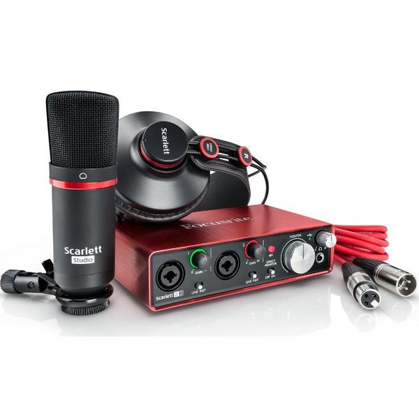 все цены на Внешняя студийная звуковая карта Focusrite 2i2 Studio 2nd Gen