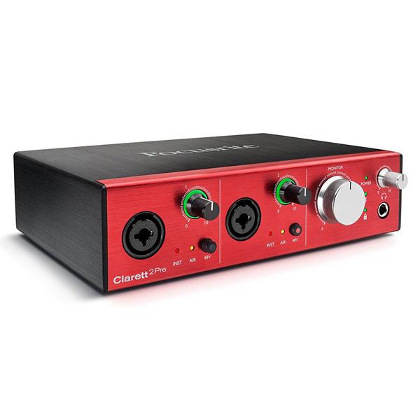 Внешняя студийная звуковая карта Focusrite Clarett 2Pre Thunderbolt внешняя студийная звуковая карта tascam iur2