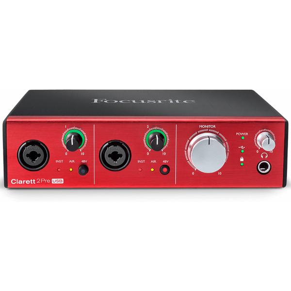 Внешняя студийная звуковая карта Focusrite Clarett 2Pre USB цап ацп конвертер focusrite rednet3