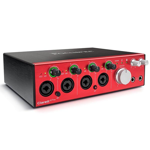 Внешняя студийная звуковая карта Focusrite Clarett 4Pre Thunderbolt внешняя студийная звуковая карта zoom u 22