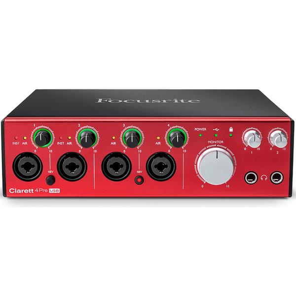 Внешняя студийная звуковая карта Focusrite Clarett 4Pre USB внешняя студийная звуковая карта focusrite clarett 4pre thunderbolt