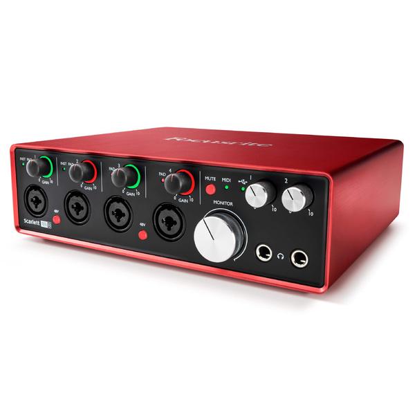 Внешняя студийная звуковая карта Focusrite Scarlett 18i8 2nd Gen focusrite scarlett 2i2 2nd gen usb