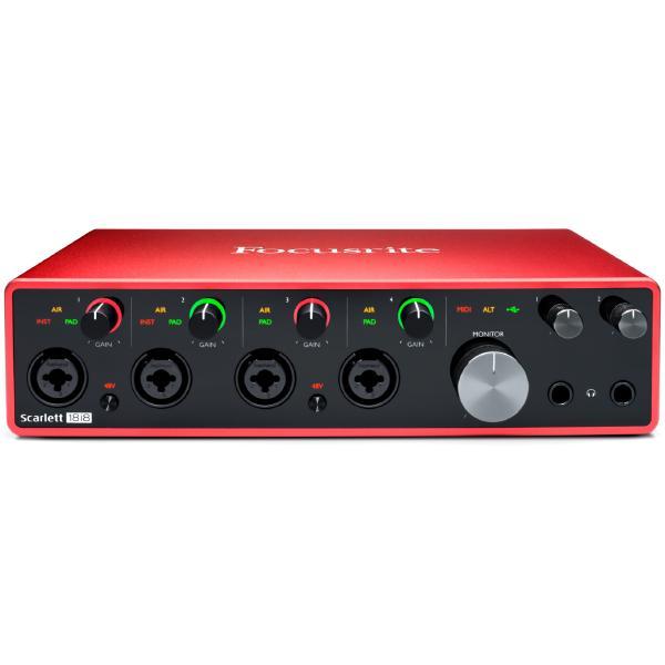 цена на Внешняя студийная звуковая карта Focusrite Scarlett 18i8 3rd Gen