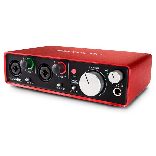 Внешняя студийная звуковая карта Focusrite Scarlett 2i2 2nd Gen синтезатор novation bass station ii