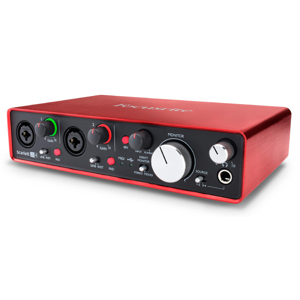 все цены на Внешняя студийная звуковая карта Focusrite Scarlett 2i4 2nd Gen