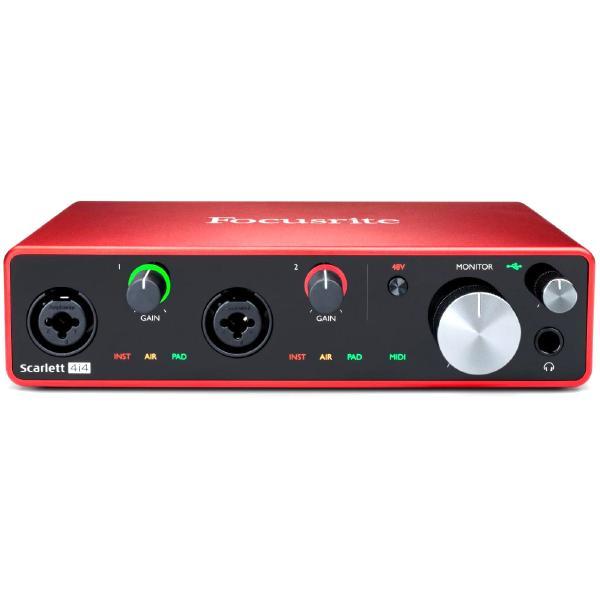 Аудиоинтерфейс Focusrite Scarlett 4i4 3rd Gen