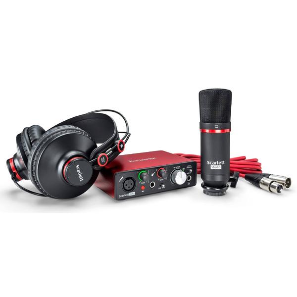 Внешняя студийная звуковая карта Focusrite Scarlett Solo Studio 2nd Gen аудиоинтерфейс focusrite scarlett octopre
