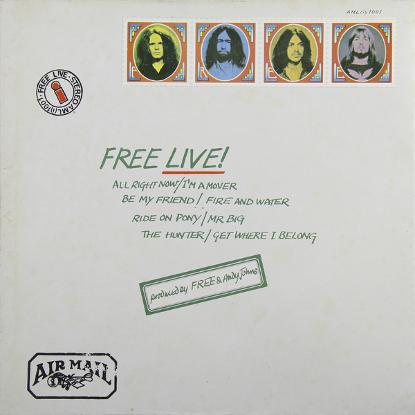 FREE FREE - Free Live (japan Original. 1st Press. Gimmic Cover) (винтаж)