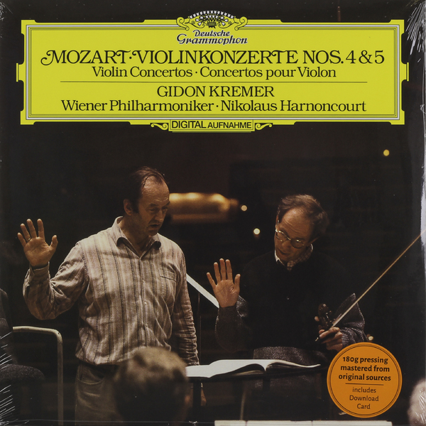 Mozart MozartGidon Kremer - : Violin Concertos 4, 5 one 4 4 electric violin new 5 string shape many colors solid wood black yellow white ect