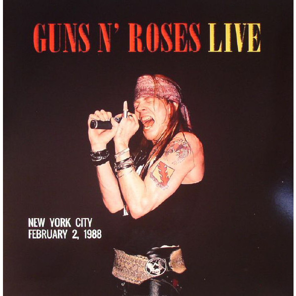 Guns N' Roses Guns N' Roses - Live In New York City, February 2 1988 футболка стрэйч printio guns n roses