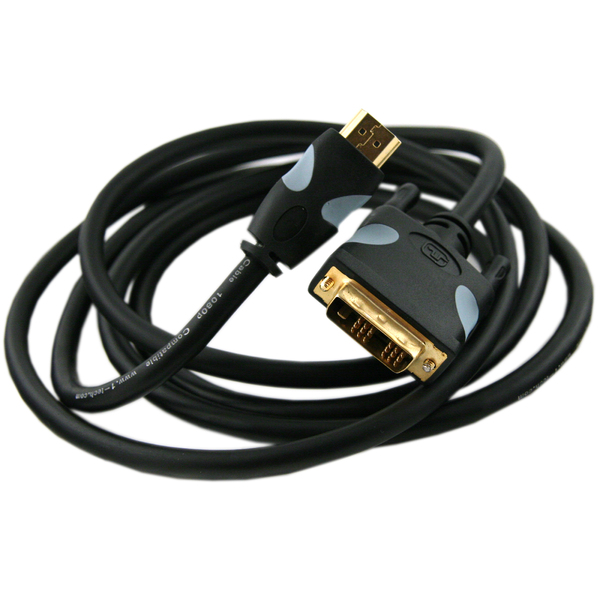 Кабель HDMI-DVI Onetech VHD1003 3 m 3 5mm male to male audio connection cable golden silver 100cm