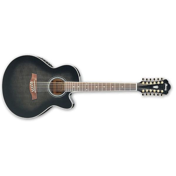 Гитара электроакустическая Ibanez AEL2012E Transparent Black Sunburst электроакустическая гитара ibanez aw65ece lg