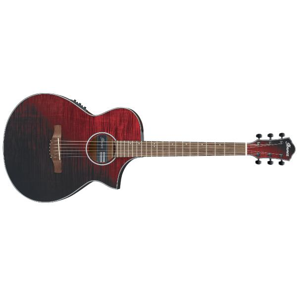 Гитара электроакустическая Ibanez AEWC32FM Red Sunset Fade