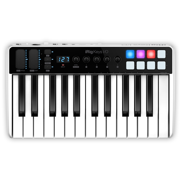 MIDI-клавиатура IK Multimedia iRig Keys I/O 25 клавиатура dell kb522 wired business multimedia keyboard black usb 580 17683