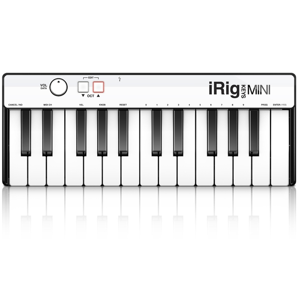 MIDI-клавиатура IK Multimedia iRig Keys Mini retractable usb male to micro usb male mini usb male charging data cable white 70cm