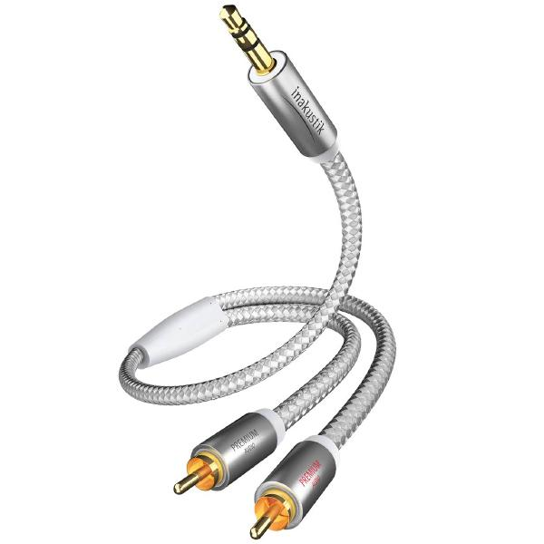 Фото - Кабель miniJack-2RCA Inakustik Premium MP3 5 m кабель антенный inakustik premium hdtv antenna 100 db 7 5 m 004261075