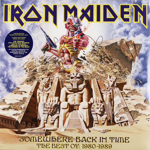 Iron Maiden Iron Maiden - Somewhere Back In Time - The Best Of: 1980-1989 (2 LP) виниловая пластинка iron maiden somewhere in time