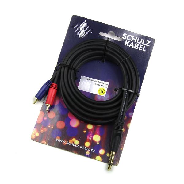 Кабель межблочный Jack-RCA Schulz Кабель межблочный Jack-2RCA GRCA 14 6 m кабель межблочный xlr jack schulz arh 7 5 m