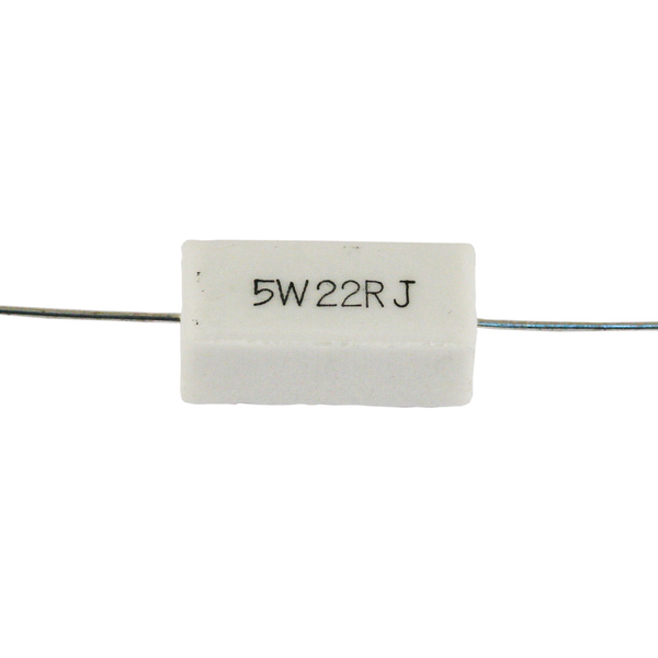 Резистор Jantzen 5W 22.00 Ohm ceramic 10pcs 5 watt 2r ceramic cement power resistors 5w 2 ohm 5