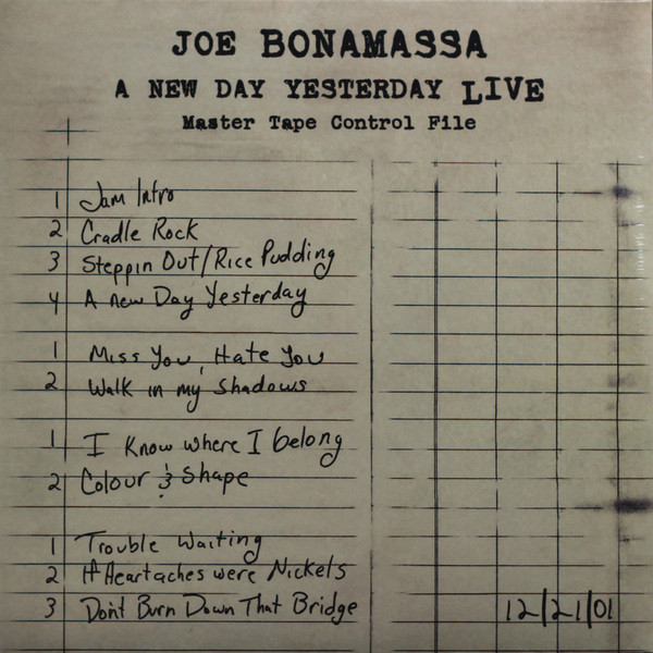 Joe Bonamassa Joe Bonamassa - A New Day Yesterday Live (2 LP) joe bonamassa joe bonamassa british blues explosion live 3 lp 180 gr