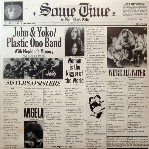 John Lennon John Lennon - Some Time In New York City (2 LP) new time a4