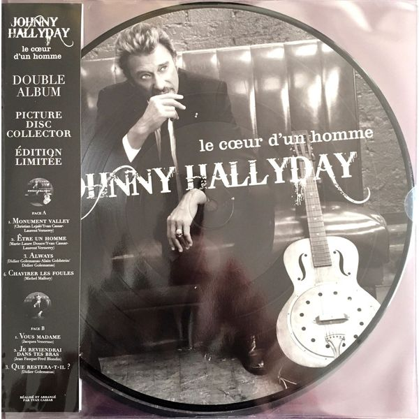Johnny Hallyday - Le Coeur Dun Homme (2 Lp, 180 Gr, Picture Disc)