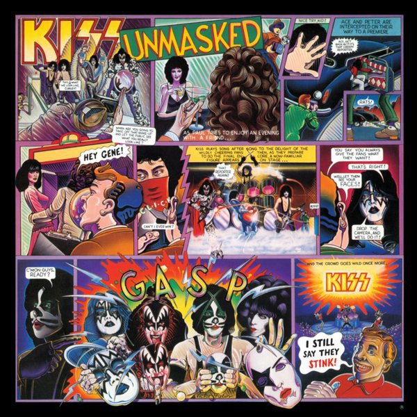 KISS KISS - Unmasked kiss kiss monster lp