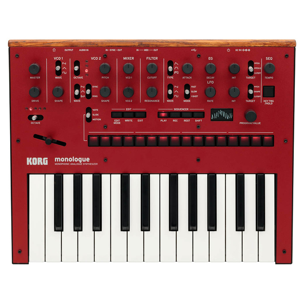 Синтезатор Korg Monologue Red синтезатор korg sq1