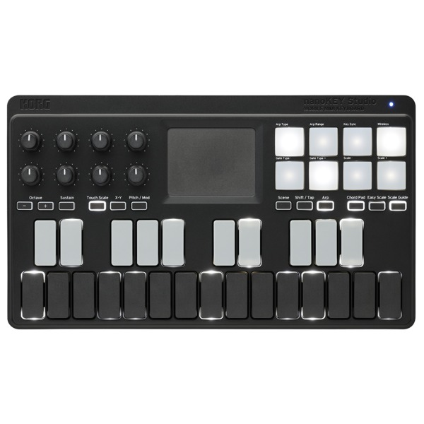 MIDI-контроллер Korg nanoKEY-STUDIO midi контроллер alesis sample pad
