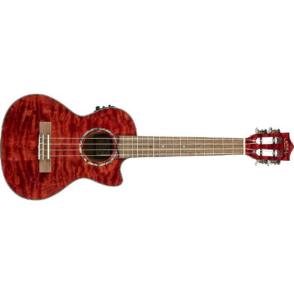 Укулеле Lanikai QM-RDCET Quilted Maple Red Stain human stain
