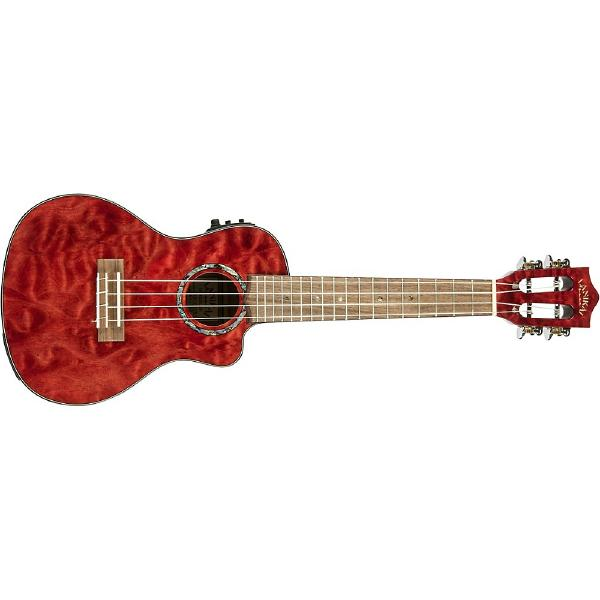 Укулеле Lanikai QM-RDCEC Quilted Maple Red Stain human stain
