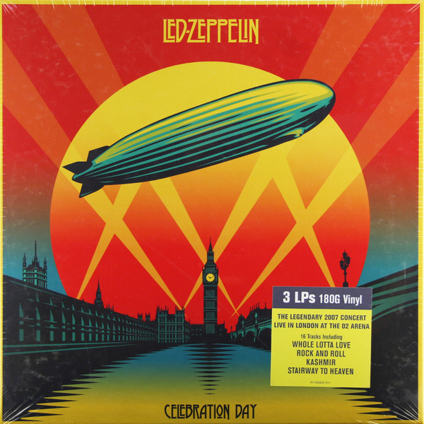 Led Zeppelin Led Zeppelin - Celebration Day (3 Lp, 180 Gr) led zeppelin led zeppelin celebration day blu ray audio